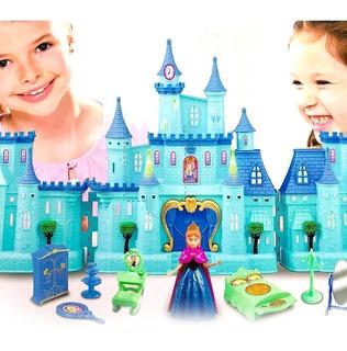 Castillo Princesas Grande Luz/sonido Y Accesorios Frozen