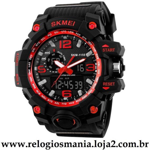 Relógio Masculino Esporte Skmei 1155 Vermelho