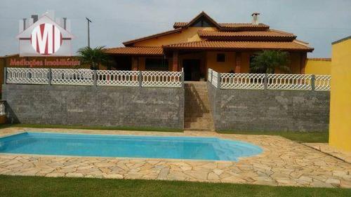 Belíssima Chácara Com 2 Dormitórios À Venda, 1000 M² Por R$ 550.000 - Zona Rural - Pinhalzinho/sp - Ch0232