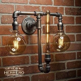 Lámpara De Pared Industrial Vintage Caño Galvanizado Únicas