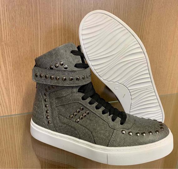 Tênis Sneaker Colcci Fitness Botinha Treino Academia Couro