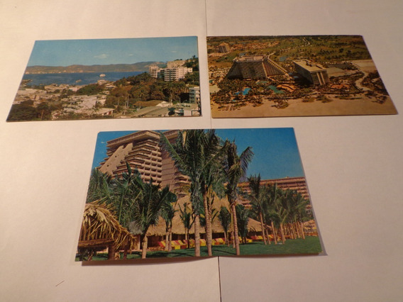 México- Acapulco- Lote 3 Postales- Impecables- Oferta