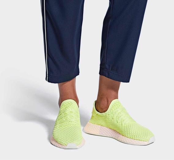 Zapatillas adidas Originales Modelos Deerupt Neón Amarillas