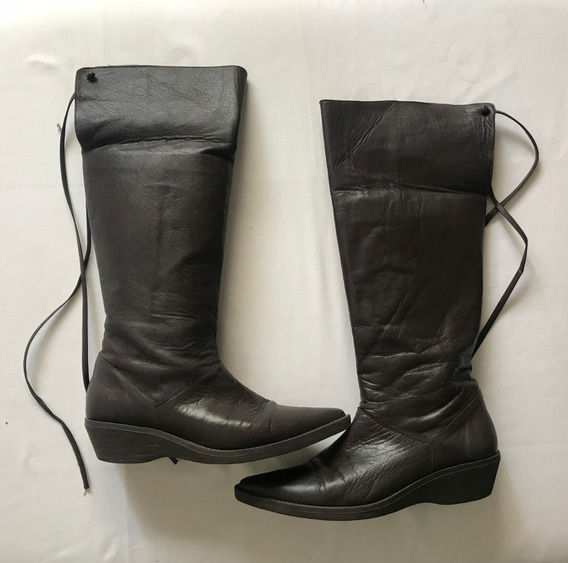 20% Off! Perugia. Botas Caña Alta Marron Chocolate. T 37