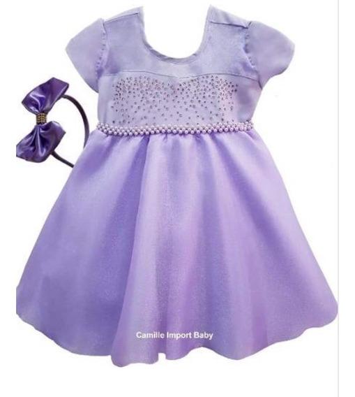 Vestiso Princesa Sofia Baby Luxo Com Tiara Promoção