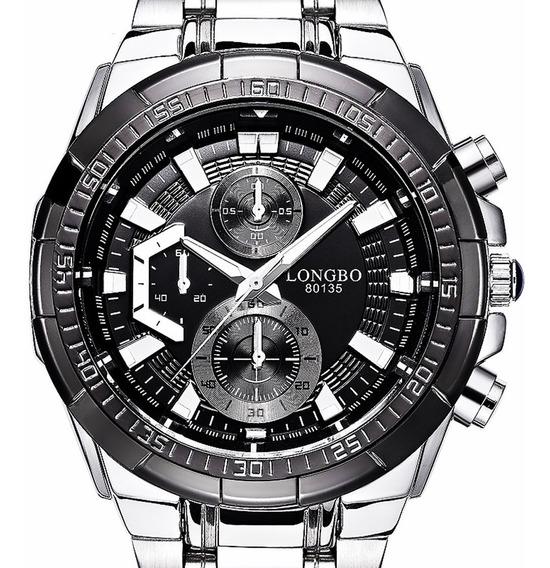 Reloj Hombre Edifice Longbo Acero Original Importado