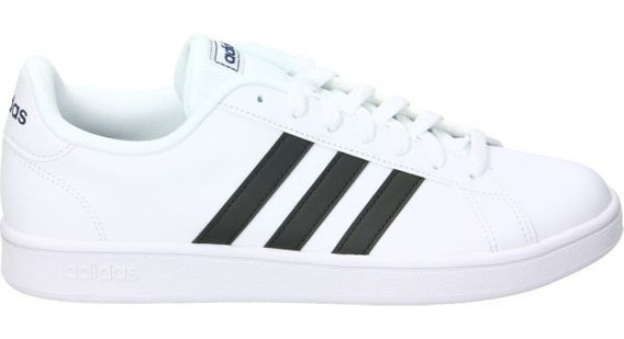 Tenis Clasicos Blancos adidas Grand Court Base De Hombre