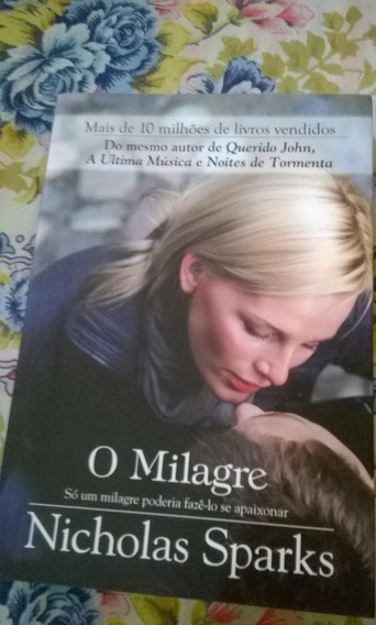 Livro O Milagre Nicholas Sparks