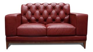 Love Seat De Piel 100% Genuina Italia- Confortopiel