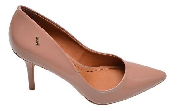 Sapato Feminino Scarpin Maple Santa Lolla Bege Verniz