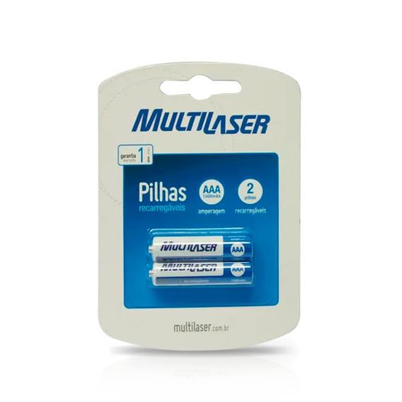Par Pilha Recarregável Multilaser Aaa 1000mah 1.2v Cb051.