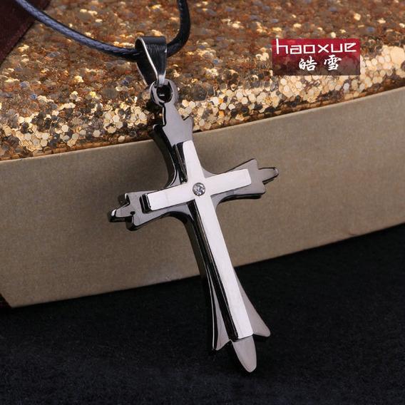 Corrente Cordão Pingente Cruz Unisex Crucifixo Colar Promoçã
