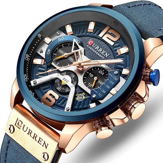 Hombres Curren Marca De Cuarzo Impermeable Reloj De Pulsera