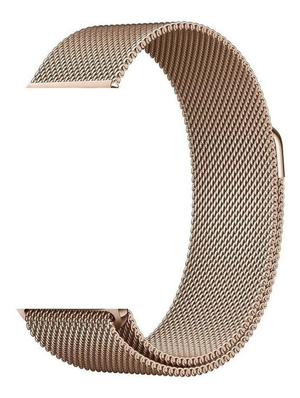Pulseira Apple Watch Aço Milanese-42/44mm-ouro Champagne