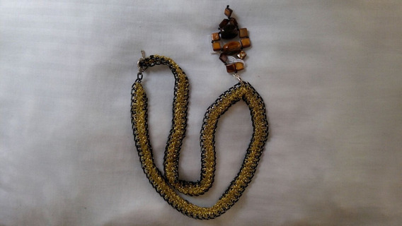 Collar Artesanal Dorado (envio Incluido)