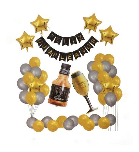 Kit Dedecoracion 44 Piezas Botellas