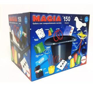 Juego Set De Magia 150 Trucos Con Galera Original Antex Mago