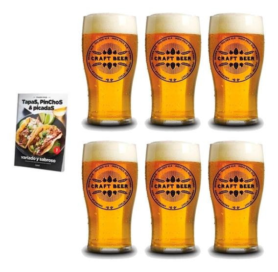 Clarín Colección Finger Food Con 6 Vasos Cerveceros