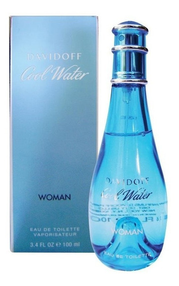 Perfume Cool Water 100ml Edt Original Feminino Davidoff