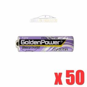50 Peças Pilha Alcalina Golden Power 27a 12v Controle Alarme