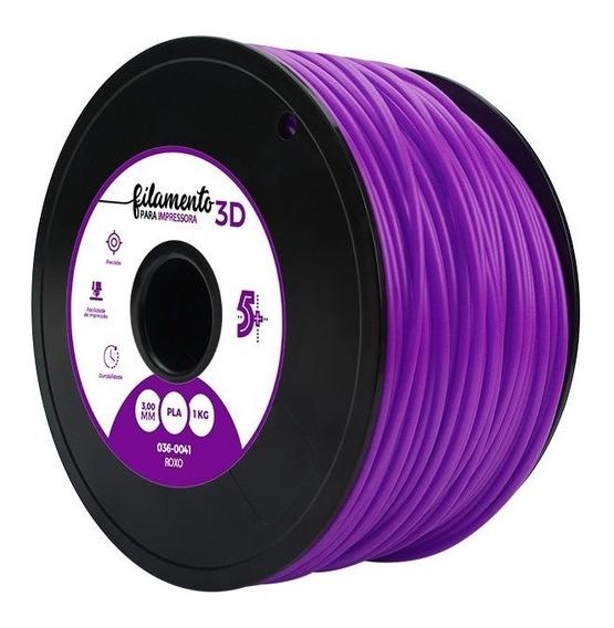 Filamento Para Impressoras 3d Pla 1kg 3mm Roxo