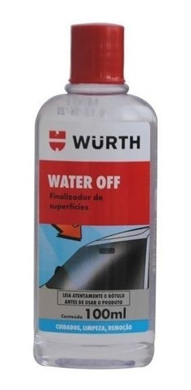 Water Off Sellador De Vidrios Wurth Repelente Agua 100 Ml