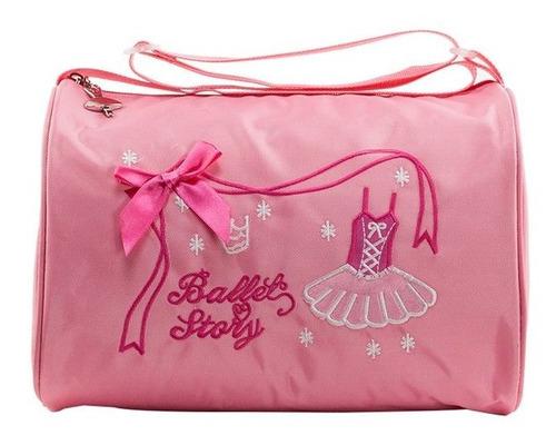 Imagen 1 de 8 de Bolso De Ballet Para Niñas Adorable De Lona De Hombro