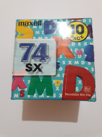 Mini Disc Md Maxell Usados Coloridos Lacrado
