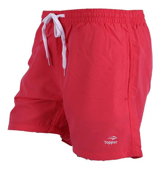Short De Baño Slim Mns Rouge Red Topper Hombre