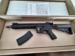 Arma Airsoft M4 G&p Full Metal Com Nf
