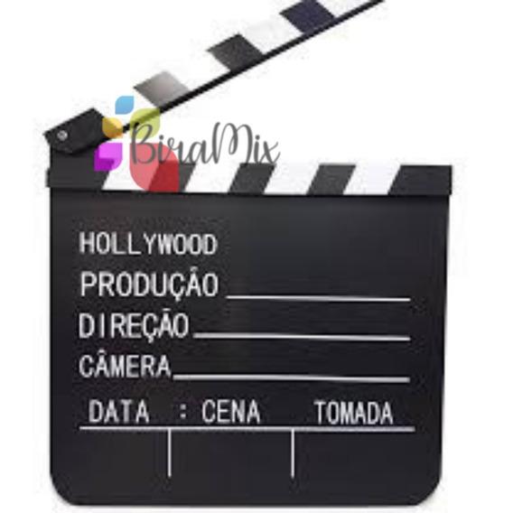 Claquete Para Cinema Para Filmagens E Decoração 18cm X 20cm