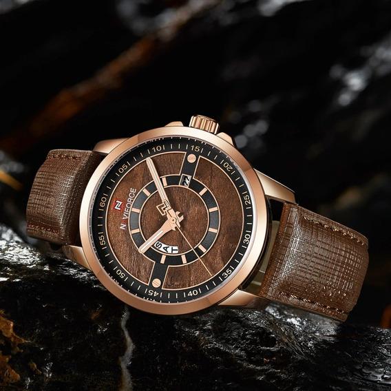Relógio Naviforce Importado Original Modelo 9151 Marrom