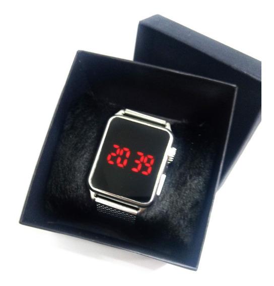 Relógio Feminino Preto Ou Prata + Caixa E Brinde Surpresa
