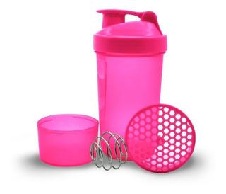 Termo Mezclador Proteína Shaker Neon 600ml 3 En 1 Gym Deport