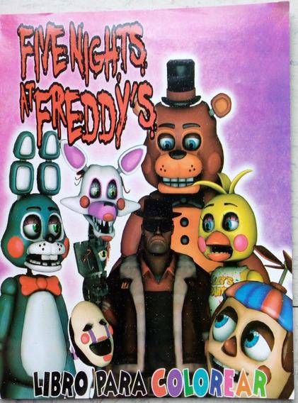 Five Nights Freddy Libros Colorear En Mercado Libre México