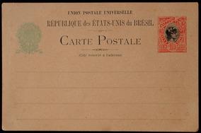 Brasil Carta Postal 1898 Internacional U P U 100rscarmin
