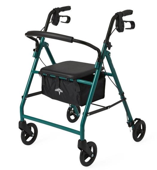 Andador Medline Caminador Andadera Color Verde Plegable