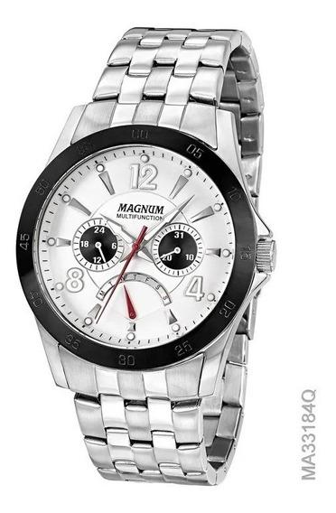 Relógio Magnum Masculino Kit Com Pulseira Ma33184d C/nf