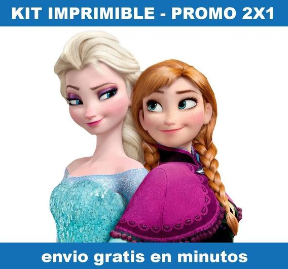 Kit Imprimible Frozen Candy Bar Promo 2x1
