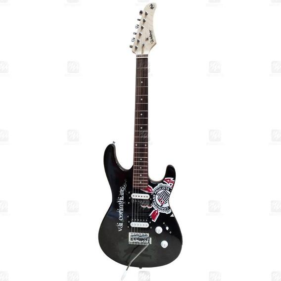 Guitarra Strato Waldman Gtu-1 Bk Corinthians Timão Alvinegro