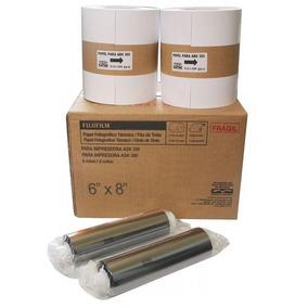 Kit Papel 10x15 Para Fuji Ask300 800 Copias