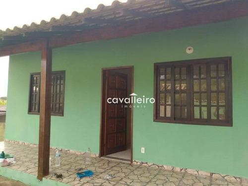 Imagem 1 de 12 de Casa Com 2 Dormitórios Sendo 1 Suite Em Condominio Em Itapeba - Maricá/rj - Ca4393