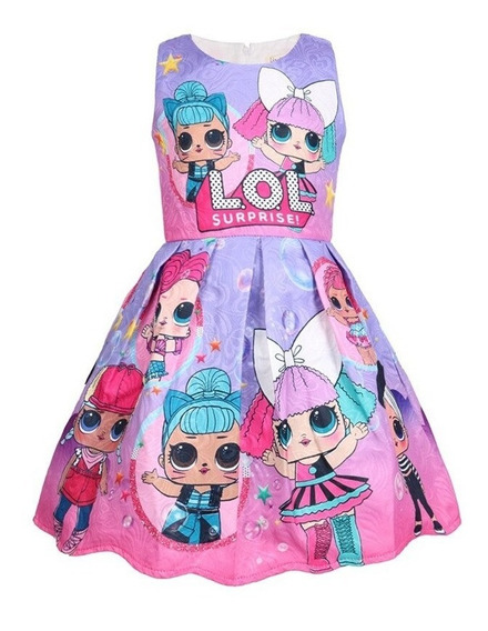 Vestido Fiesta Niña Moda Muñecas Lol Surprise Casual