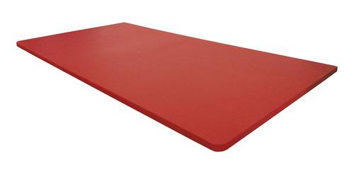 Mesa Dobrável Parede Bancada Mdf Vermelha 60x45cm