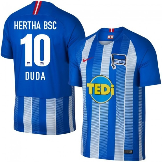 Camisa Hertha Berlin Home 18-19 Duda 10 Importada