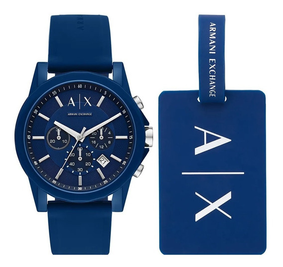 Relógio Armani Exchange Outerbanks Azul - Ax7107/8an
