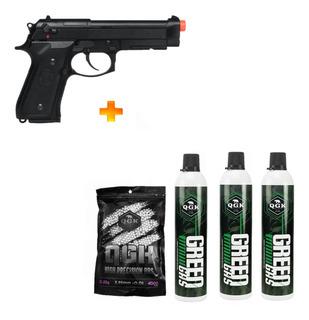 Pistola De Airsoft Gbb M9a1 Blowback 6mm+ 2 Green Gas + Bb
