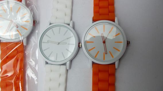 Kit Lote 3 Relógios Unissex Branco Top
