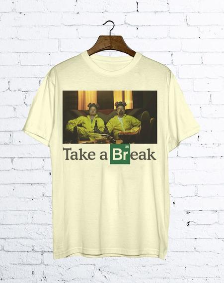 Camiseta Breaking Bad Cerveja Heisenberg Pinkman Séries