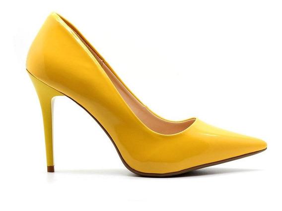 Scarpin Royalz Verniz Penélope Amarelo